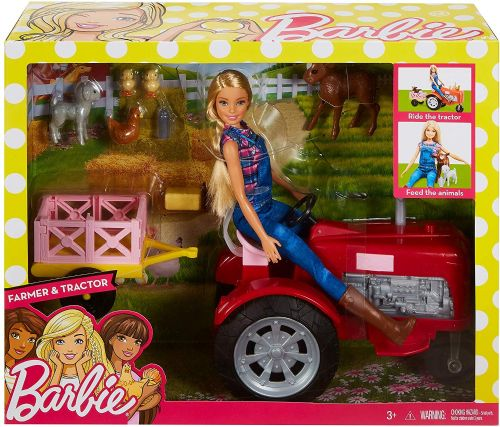 Barbie Doll & Tractor Playset